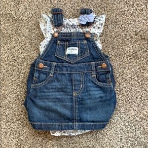 OshKosh overall dress set